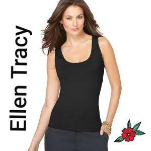 Ellen Tracy Black soft Tank Top Blouse Size M